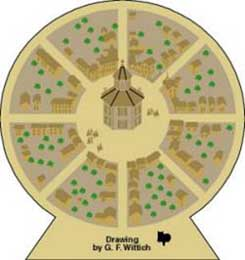 Cat's Meow - Circleville Town Circle by Cat's Meow Village